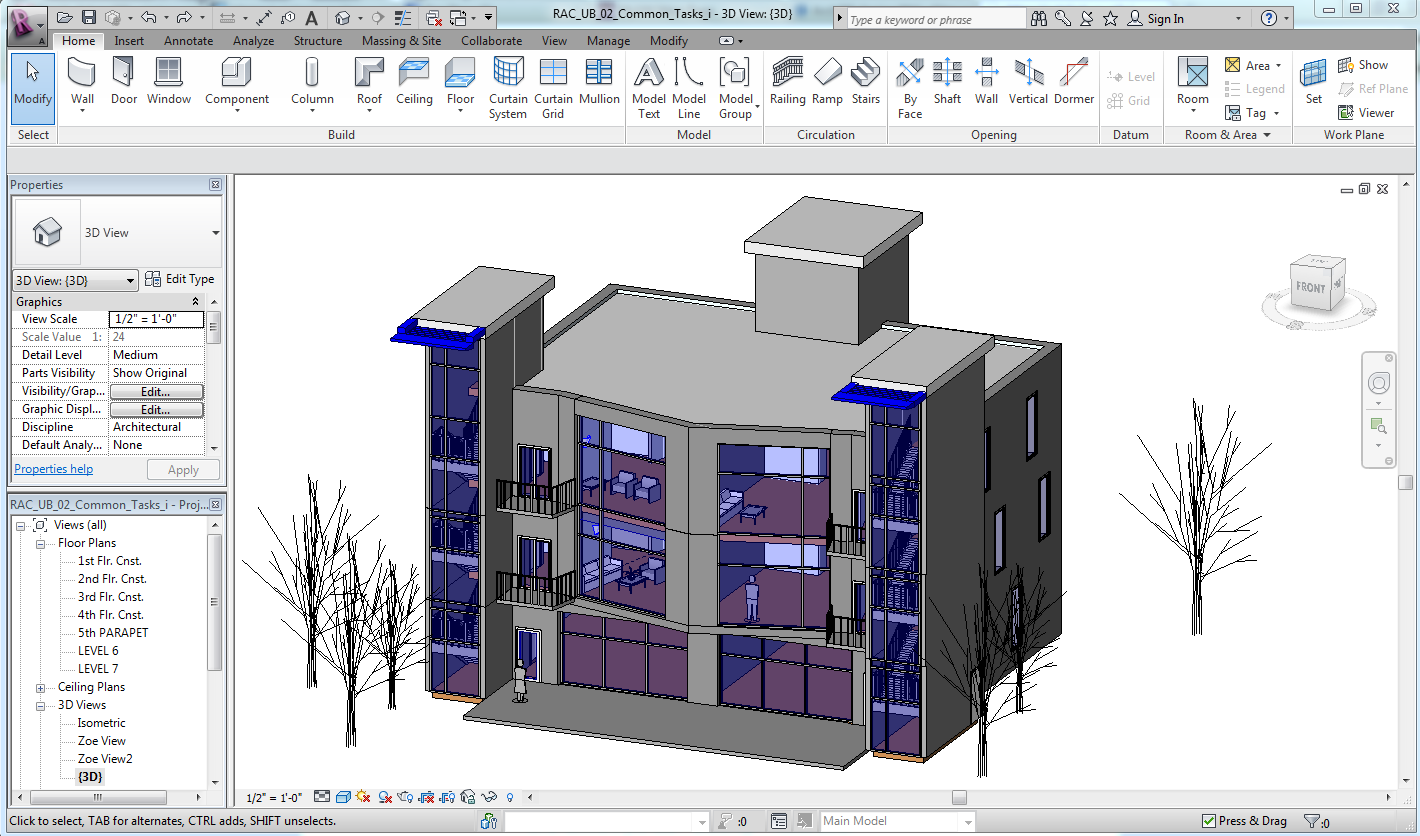 W3 autodesk autocad architecture revit zoe for Architecture programs free